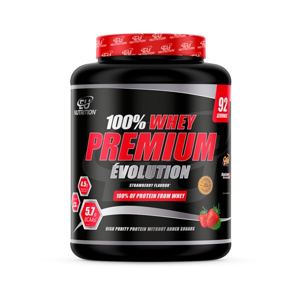 3701007590231_100% Whey Premium Évolution 2.3 Kg Strawberry