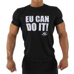 t-shirt preta eu can do it