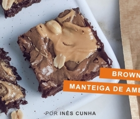 Brownie com Manteiga de Amendoim